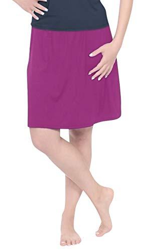 Kosher Grapes - Kosher Casual Women's Modest Knee-Length Swim & Sport Skirt with Built-in Shorts - Skort Style Large Sparkling Grape
