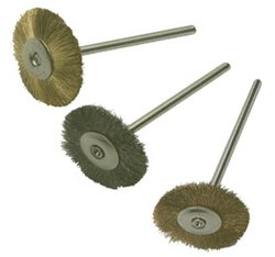 Mounted Metal Wheels- Straight, Brass, Pack of 6
