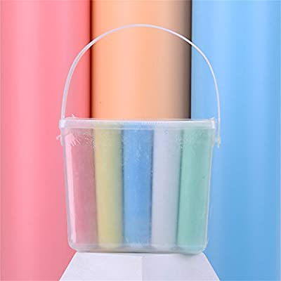 Keepmove Sidewalk Chalk 15 Pieces 5colors Factory Washable Coloring Outdoor Kid Fun: Home & Kitchen