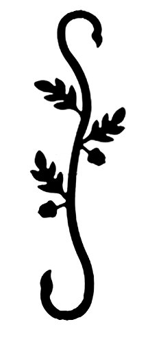 Iron Decorative Acorn Garden Plant Hanger S Hook - Black ()