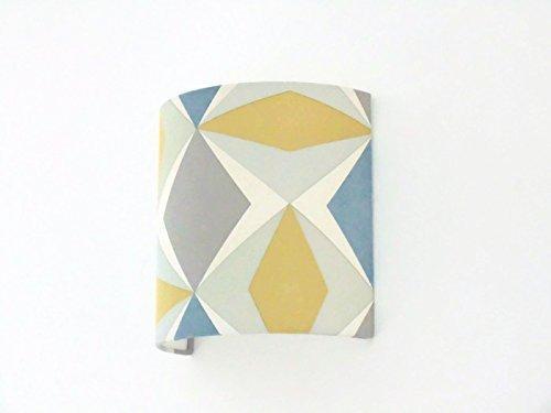 Applique murale géométrique scandinave bleu jaune gris luminaire