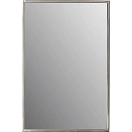 Amazon.com: Meek Mirrors AMZ1210 Stainless Steel Rectangular Framed ...