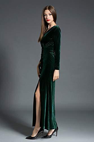retrò a maniche maniche da a lunghe elegante da lunghe Nero maniche a donna sirena AsDLg a Abito elegante lunghe donna retrò Y0wv5Zq
