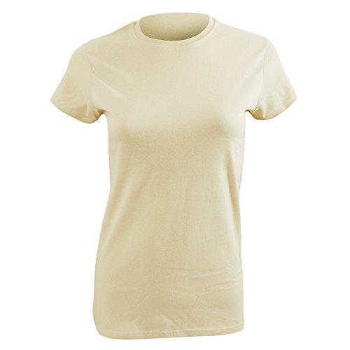 Gildan- Camiseta de manga corta para mujer Sand