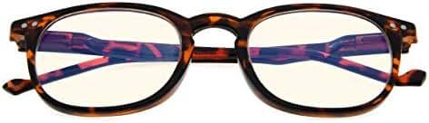 Vintage Computer Reading Glasses Blue Light Filter Anti Eyestrain Eyeglasses