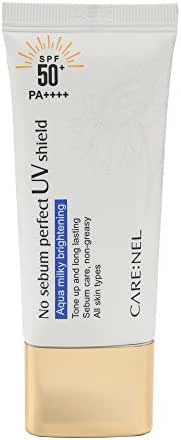 CARENEL No-Sebum Sunscreen Spf 50 - Skin Care Korean Face Sun Block for Women, Men, Kids and Baby - for Sensitive Skin oily skin anti aging - Small Size good for Travel, Sport