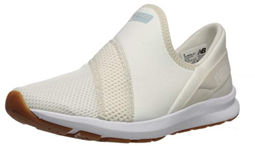 New Balance Women's FuelCore Nergize Slip-On V1 Sneaker, Sea Salt/Moonbeam/Summer Sky, 6 W US