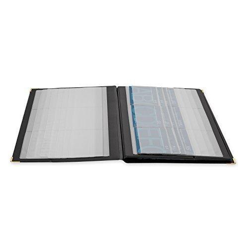 Rolodex Vinyl Business Card Book - Rolodex 67465 Rolodex 192-Card Capacity Vinyl Business Card Book, Black - 3 Pack