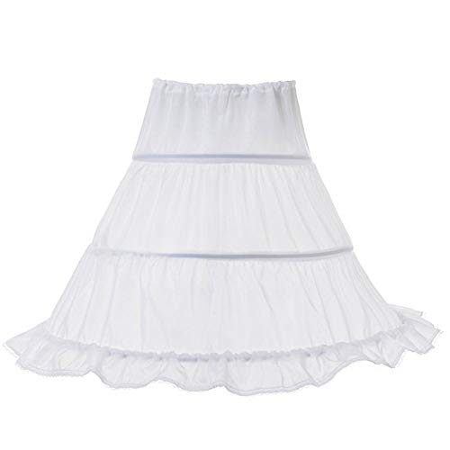 LZH Girls Wedding Dress Petticoat Princess Pageant Embroidery Ball Gown Dress Petticoat