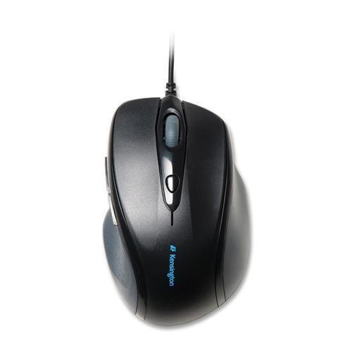 K72369US Kensington Pro Fit Full-Size Mouse USB - Optical - Cable - Black - Retail - USB - 2400 dpi - Scroll Wheel - Right-handed ()