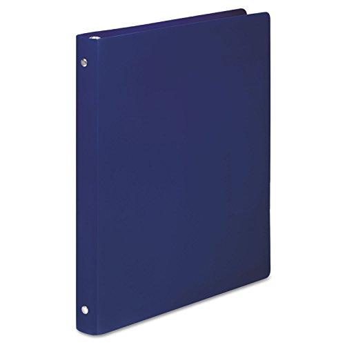 ACCO 39702 ACCOHIDE Poly Round Ring Binder, 23-pt. Cover, 1/2-Inch Cap, Dark Blue