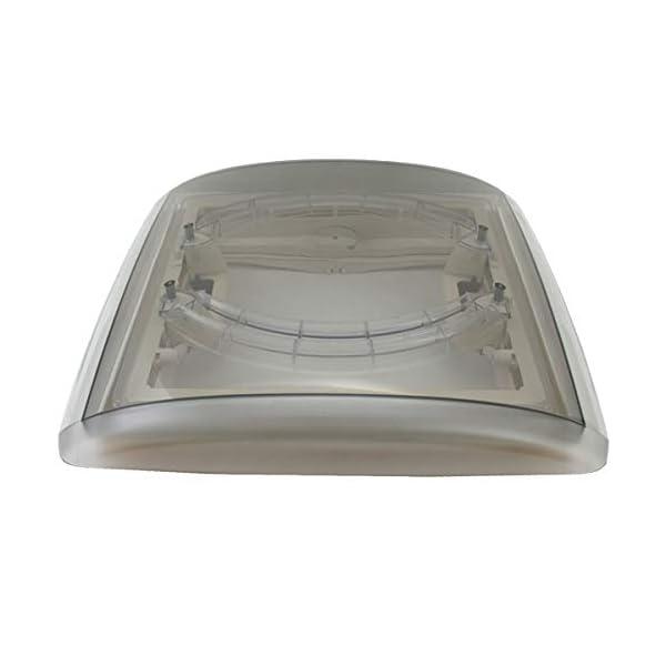 31up5UIAV5L MPK VisionVent M getönte Klarglas Dachluke Dachfenster Dachhaube 40 x 40 mit Rollo und Netz