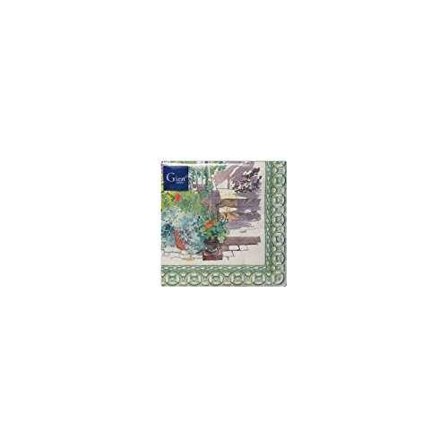Gien - Gien Paris Giverny Paper Napkins - Green