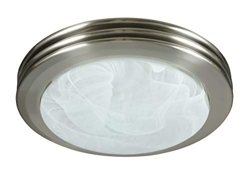 Saturn Decorative Bath Fan with Light (Brushed Nickel)