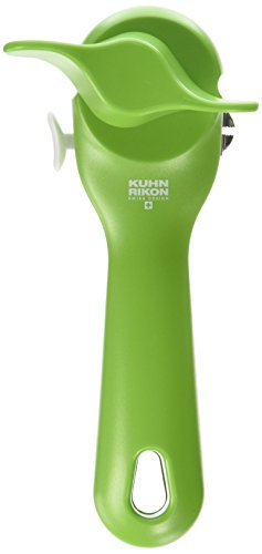 "Kuhn Rikon 27004 Can Opener, 7.25"", Green"