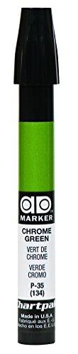 The Original Chartpak AD Marker, Tri-Nib, Chrome Green, 1 Each (P35)