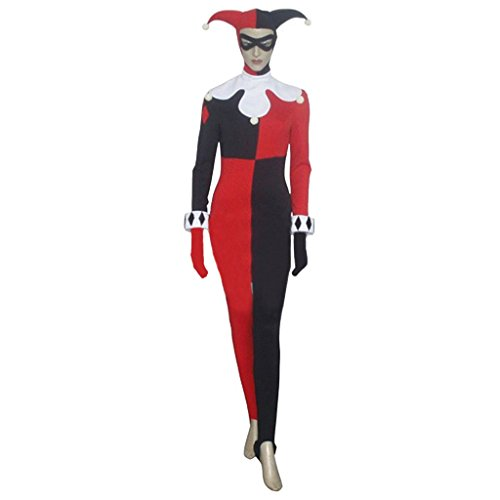 [CosplayDiy Women's Sexy Clown Bodysuit Catsuit XS] (Make Your Own Superhero Costume)