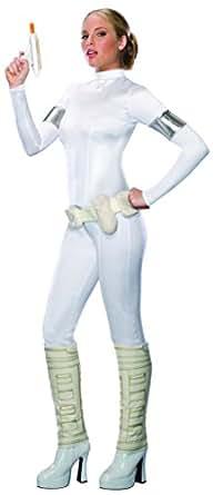 Secret Wishes Star Wars Sexy Padme Amidala Costume, White, X-Small