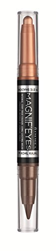 Rimmel Magnif'eyes Double Ended Shadow and Eye Liner, Kissed By A Rose Gold, 0.05 oz., Eye Shadow & Eye Liner Resists Smudging & Creasing