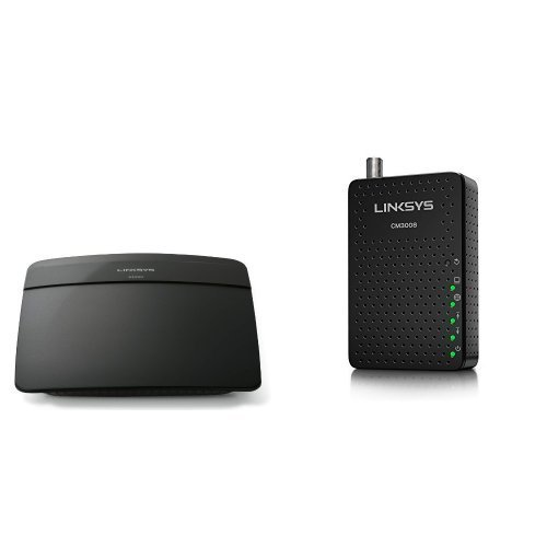 Linksys N300 Wi-Fi Wireless Router & Linksys High Speed DOCSIS 3.0 Cable ()