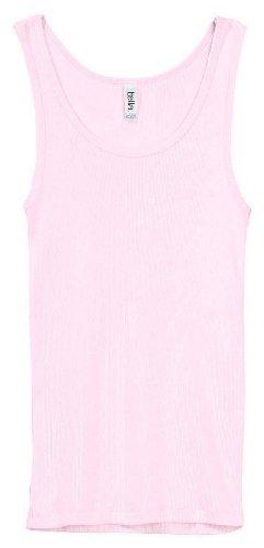 - Bella 4000 Womens 2 x 1 Rib Tank - Soft Pink, 2XL