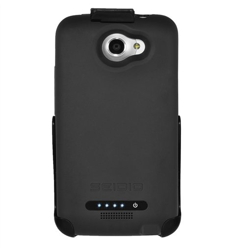 Seidio BD4-PBYHTNXL-BK Innocell Plus Power Case and Holster Combo for AT&T and HTC One X LTE - Retail Packaging - Black
