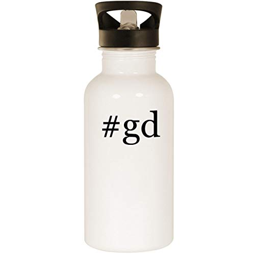 #gd - Stainless Steel Hashtag 20oz Road Ready Water Bottle, White (Griffeys Air Max 2)