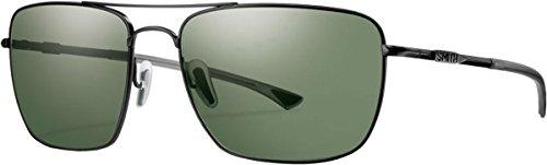 Smith Nomad Sunglasses - Polarized Matte Black/Gray Green, One Size