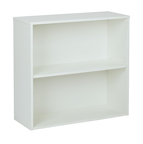 Pro-Line II / OSP Designs Office Star Prado 2 Shelf Bookcase, White Laminate Finish by Pro-Line II / OSP Designs