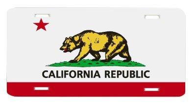 - California State Flag Vanity Auto License Plate