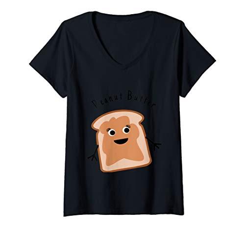 Womens Peanut Butter Matching Halloween Costume Jelly DIY Shirt V-Neck T-Shirt