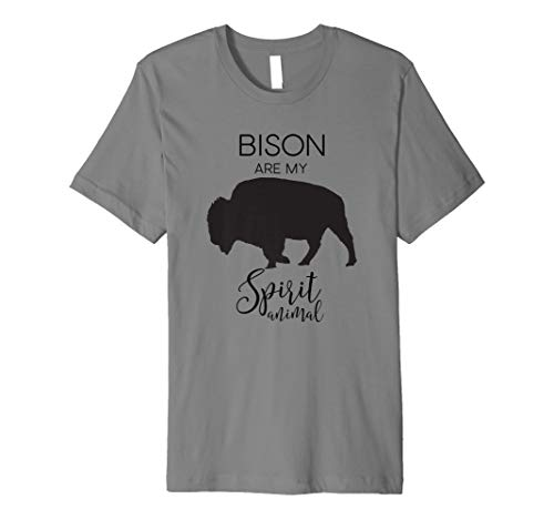 Bison are my Spirit Animal Buffalo J000368 Premium T-Shirt