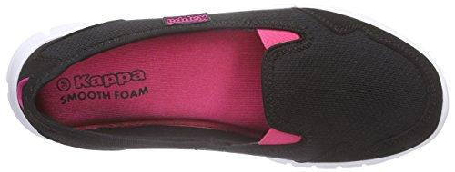 Kappa KappaGOMERA Footwear Women, Mesh/Synthetic - Bailarinas Cerradas Mujer Negro - Schwarz (1122 black/pink)