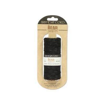 Hemp Twine Bead Cord 1mm 197 Feet BLACK: Home Improvement