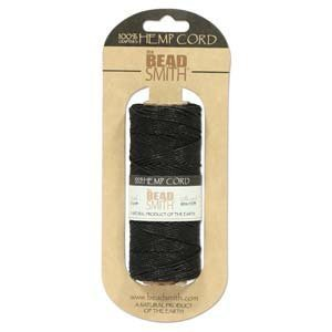 Hemp Twine Bead Cord 1mm 197 Feet BLACK ()
