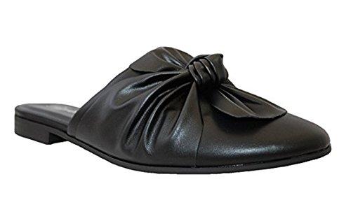 - PAPRIKA Women's Gold Tone Horsebit Hardware Backless Slip On Loafer, mve Shoes Tapper Black HS Size 6