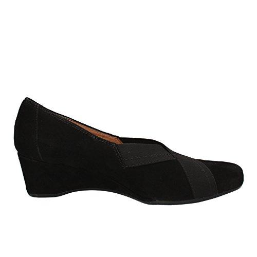 Stonefly Zapatos de Salón Mujer 35 EU Negro Gamuza Textil AD389