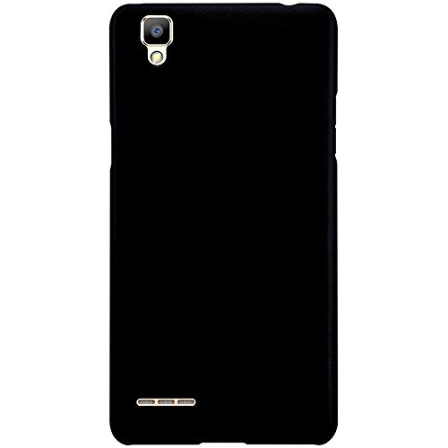 WOW-Imagine-Rubberised-Matte-Hard-Case-Back-Cover-For-Oppo-F1-Pitch-Black