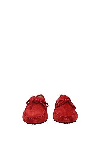 XXM0GW05470RE0R007 Tod's Mocasines Hombre Gamuza Rojo Rojo