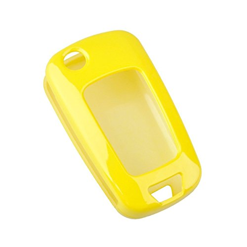 (Ezzy Auto Yellow Flip Paint Metallic Remote Key Fob Case Shell Cover Key Fob Skin Cover Car Key Bags Key Chains for 2010-2013 Chevrolet Buick LaCrosse)