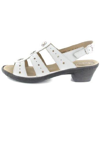 d59b10dd32 ... SALE - ROMIKA - Hanna 03 - Damen Sandalen - Weiß Schuhe in Übergrößen  ...