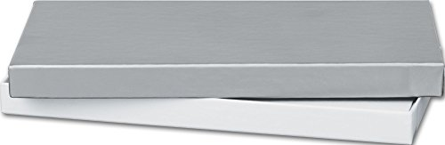 Silver Gift Certificate Boxes, 6 5/8 x 3 1/4 x 5/8'' (100 Boxes) - BOWS-52-060301-7 by Miller Supply Inc