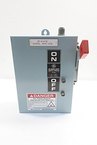 GE THN3361J MODEL 7 30A AMP 3P NON-FUSIBLE DISCONNECT SWITCH 600V-AC D596241