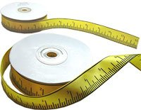 Tape Measure Ruler Satin Ribbon 7/8 inches wide