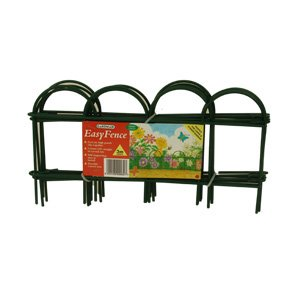 Garden Border Easy Fence Clip Together Panels 8 Pieces 3m Length
