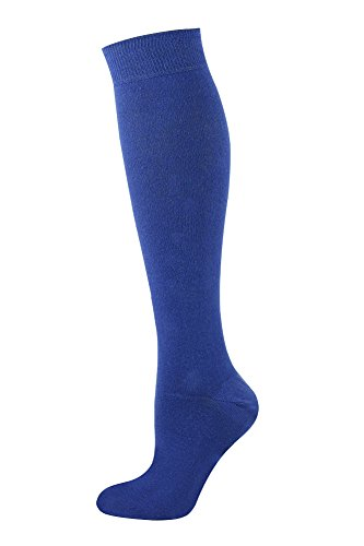 Mysocks Unisex Knee High Long Socks Plain Indigo]()