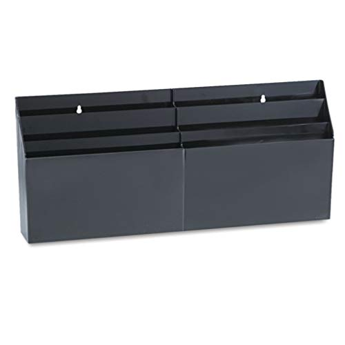 RUB96060ROS - Color : Black - Rubbermaid Optimizers Six-Pocket Organizer - Each - Optimizers Six Pocket Organizer