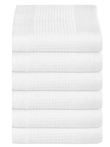 NG Solid Waffle Kitchen Towel 18x28 White ()