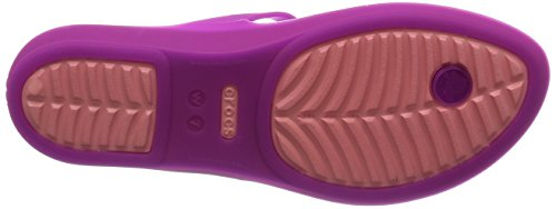 Crocs Rio Flip W - sandalias con cuña de sintético mujer Vibrant Violet/Melon