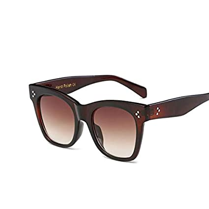 Amazon.com: Kasuki Flat Top Mirrored Sunglasses Women Brand ...
